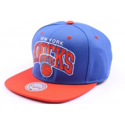 Casquette snapback New York Knicks bleu et orange