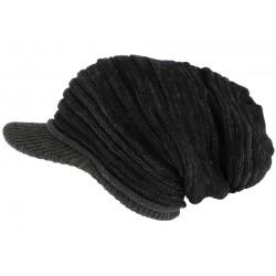 Bonnet Casquette Rasta Noir et Gris Kalysh Nyls Création