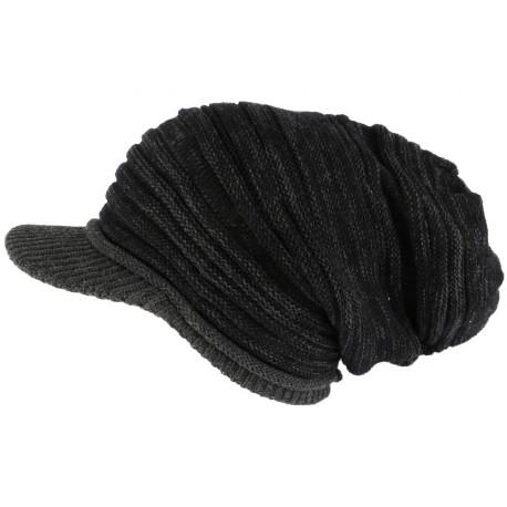 6864385658 Bonnet Casquette Rasta Noir et Gris Kalysh Nyls Création BONNETS Nyls  Création