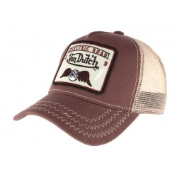 Casquette Von Dutch marron Electric Road Square CASQUETTES VON DUTCH