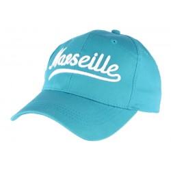 Casquette Marseille Bleu Foot en coton