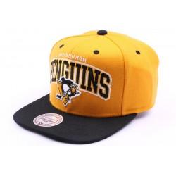 Casquette snapback Pittsburgh Penguins jaune et noir