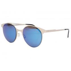 Lunettes de soleil miroir bleu en aluminium Aury
