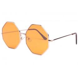 Lunettes de soleil octogonales jaunes Fashion Octy