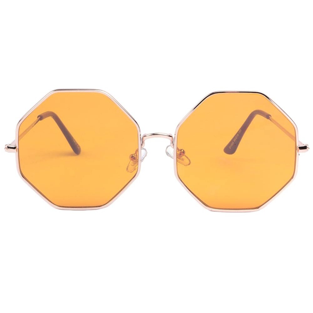 lunettes de soleil octogonales jaune lunette soleil. Black Bedroom Furniture Sets. Home Design Ideas