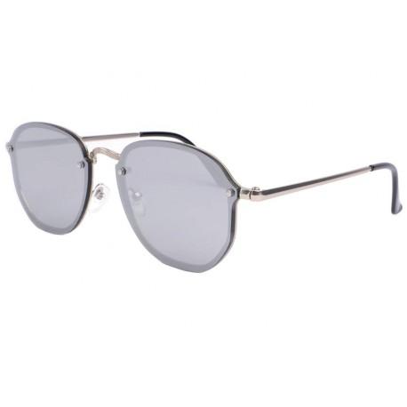 lunettes de soleil miroir argent lunette soleil tendance