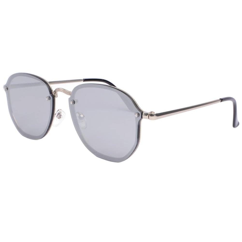Lunettes de soleil miroir argent lunette soleil tendance for Miroir gris argent