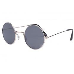 Petites lunettes de soleil rondes grises Beatly