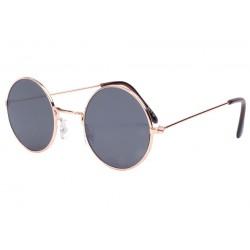 Petites lunettes de soleil rondes dorées Beatly