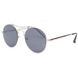 Lunettes de soleil rondes grises Fashion Need LUNETTES SOLEIL Eye Wear