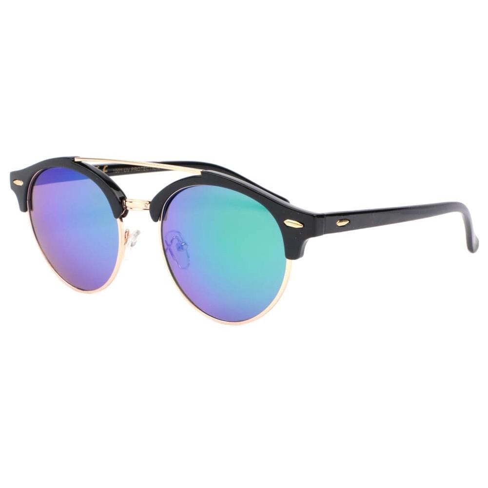 Lunettes de soleil miroir bleu Fily, lunette soleil ronde livré 48h! 1a6de92671e1