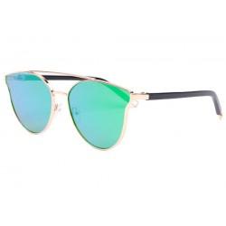 Lunettes de soleil miroir vert femme fashion Lola LUNETTES SOLEIL Eye Wear