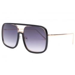 Grandes lunettes de soleil noires fashion Macky LUNETTES SOLEIL Eye Wear