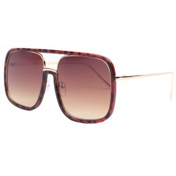 Grandes lunettes de soleil marron fashion Macky LUNETTES SOLEIL Eye Wear