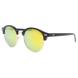Lunettes de soleil rondes miroir jaune doré Nory LUNETTES SOLEIL Eye Wear
