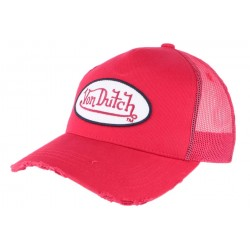 Casquette Von Dutch Rouge Fresh baseball
