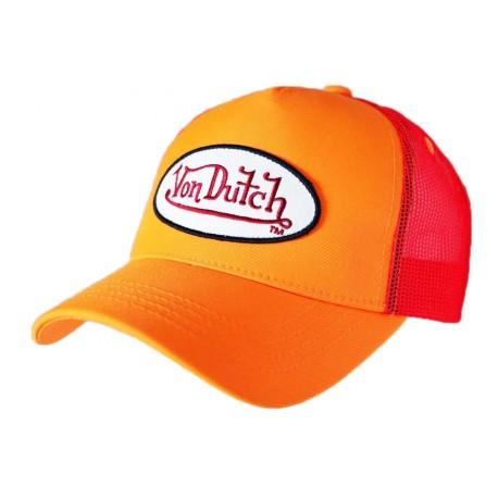 Casquette Von Dutch Orange Fluo Fresh Baseball CASQUETTES VON DUTCH