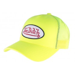 Casquette Von Dutch Jaune Fresh baseball CASQUETTES VON DUTCH