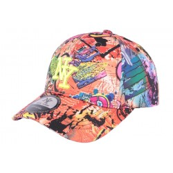 Casquette Enfant NY Orange Crazy Circle de 7 à 11 ans ANCIENNES COLLECTIONS divers