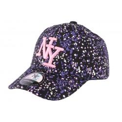 Casquette baseball enfant violette et noire Grafty de 7 à 12 ans Casquette Enfant Hip Hop Honour