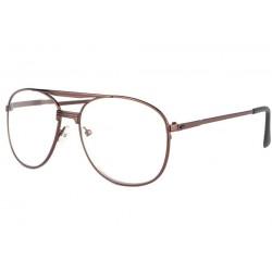 Grosses lunettes loupe marron en métal Vysia