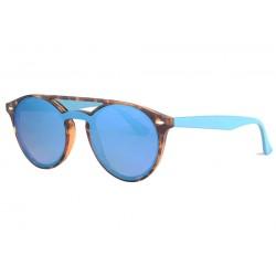 Lunettes de soleil miroir bleu retro marron Starky