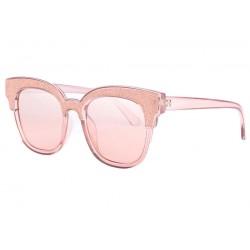 Lunettes de soleil strass rose femme Glamy