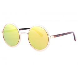 Lunettes de soleil rondes miroir doré fashion Docky