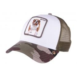 Casquette Goorin Butch camouflage verte au Dog Francais
