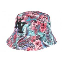 Chapeau bob streetwear rouge Floral NY BOB Hip Hop Honour