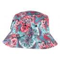 Chapeau bob streetwear rouge Floral NY