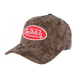 Casquette Von Dutch militaire Marron Army R