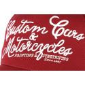 Casquette Von Dutch rouge Custom Motorcyles
