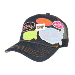 Casquette Von Dutch bleu logos fashion Asia CASQUETTES VON DUTCH