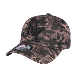 Casquette NY camouflage marron et noir Colny CASQUETTES Hip Hop Honour