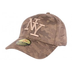 Casquette NY camouflage marron Lieuty