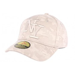Casquette NY camouflage beige Lieuty
