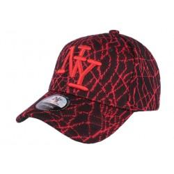 Casquette NY noire et rouge fashion Spider