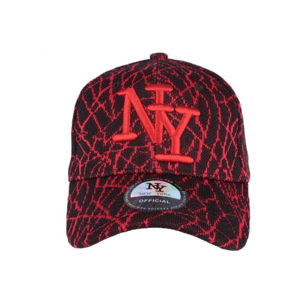 casquette ny noir rouge spider casquette baseball fashion livr 48h. Black Bedroom Furniture Sets. Home Design Ideas