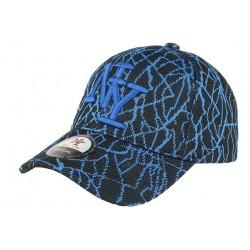 Casquette NY noire et bleue fashion Spider