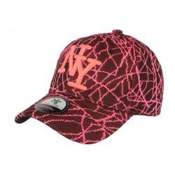 Casquette NY noire et rose fluo fashion Spider