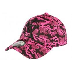 Casquette NY militaire rose fashion Kalrov