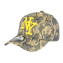 Casquette baseball militaire verte et jaune Kaptain