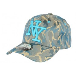 Casquette baseball militaire bleu et verte Kaptain