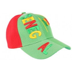 Casquette Senegal verte jaune rouge de Foot CASQUETTES PAYS