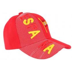 Casquette Espagne rouge et jaune drapeau Espagnol
