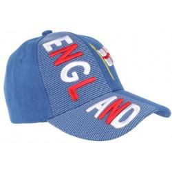 Casquette Angleterre bleu rouge et blanche drapeau Anglais CASQUETTES PAYS