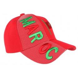Casquette Maroc rouge et verte drapeau marocain