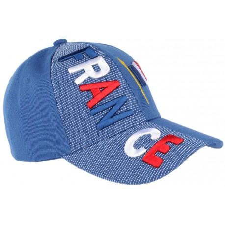 enfant coupon de réduction le plus populaire Casquette France bleu banc rouge, casquette Football livré en 48h!