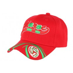 Casquette Maroc Football rouge et vert CASQUETTES PAYS